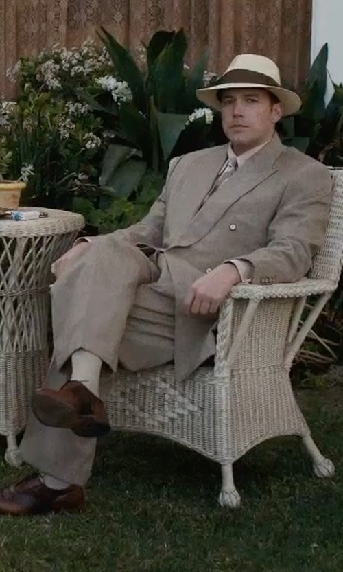 Ben Affleck with Cole Haan Warren Leather Wing-Tip Oxford Shoes in Live By Night