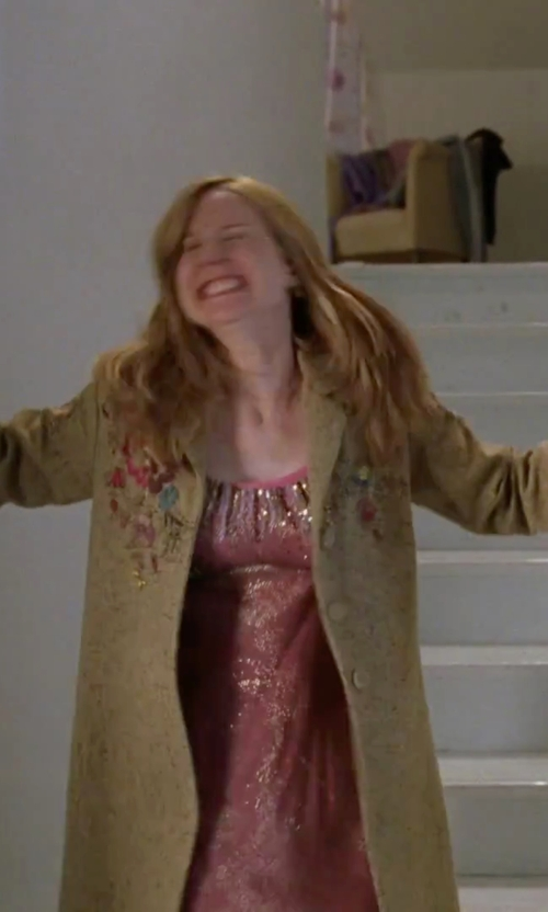 Laura Linney with Oscar De La Renta Prism Pretty Sleep Chemise in Love Actually