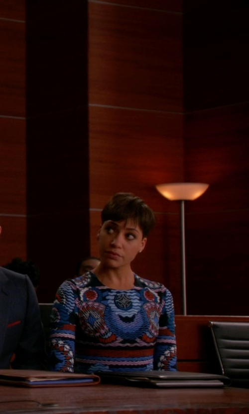 Cush Jumbo with Peter Pilotto Start Dress in The Good Wife