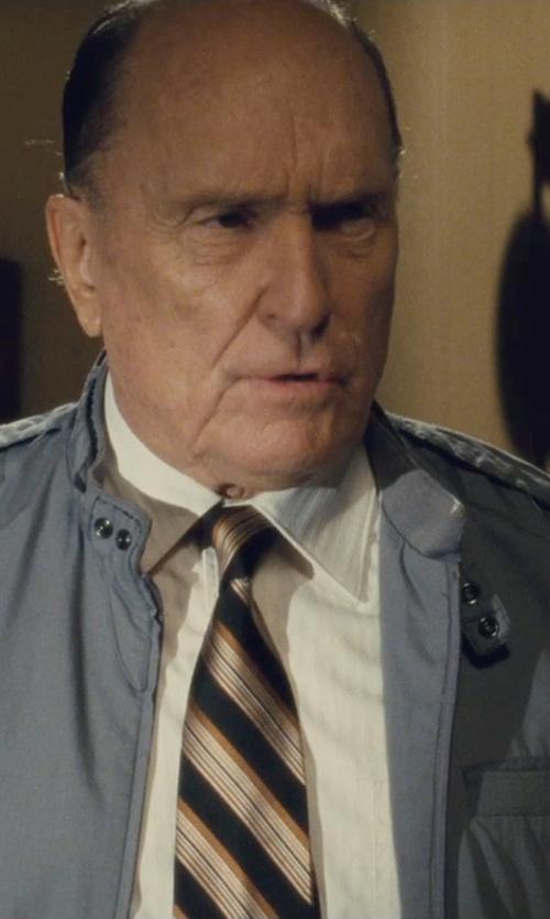 Robert Duvall with Robert Talbott Regular Fit Solid Dress Shirt in The Judge