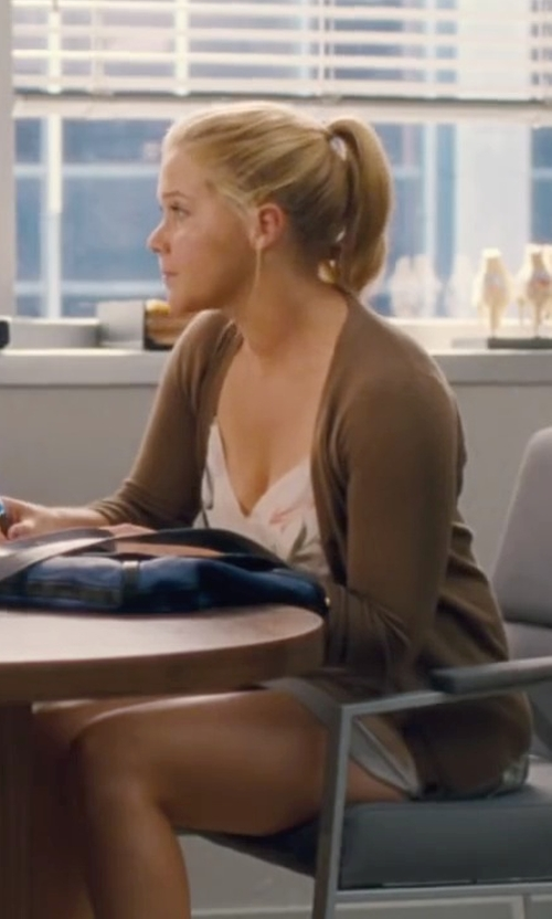 Amy Schumer with Splendid Ruched Mini Skirt in Trainwreck