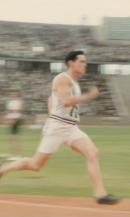 Jack O'Connell with Louise Frogley (Costume Designer) Custom Made Track Shorts in Unbroken