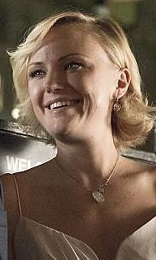 Malin Akerman with Katie Mullally Five Pence Irish Coin Necklace in Billions