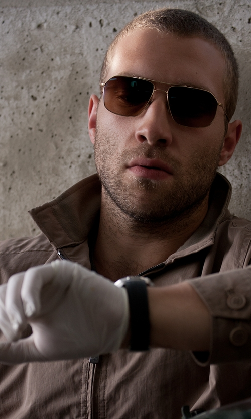Jai Courtney with TAG Heuer Men's Aquaracer Calibre 5 Automatic 500M Black Rubber Watch in Jack Reacher