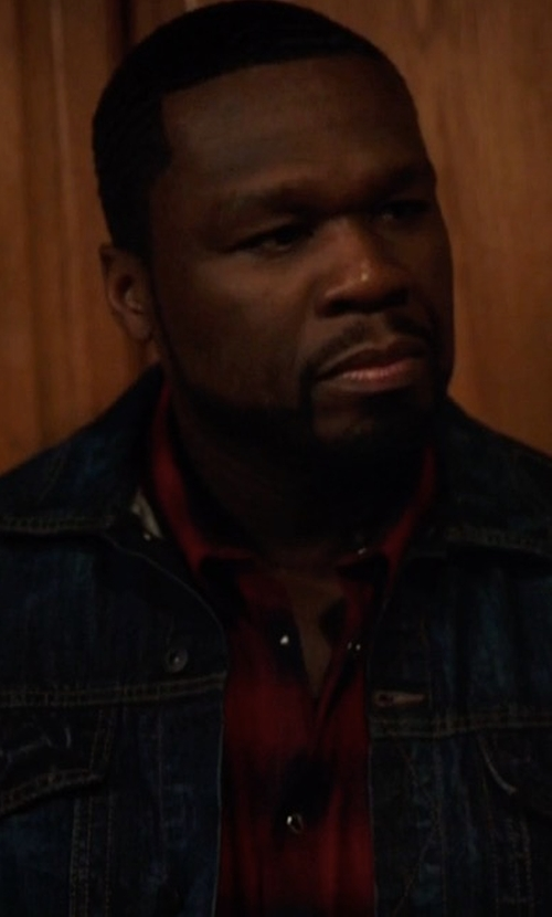 50 Cent with Unsimply Stitched Plaid Sport Shirt in Power