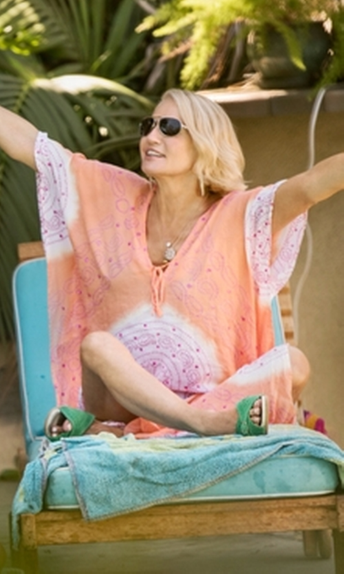 Ellen Barkin with Tolani Blanca Dress in Animal Kingdom