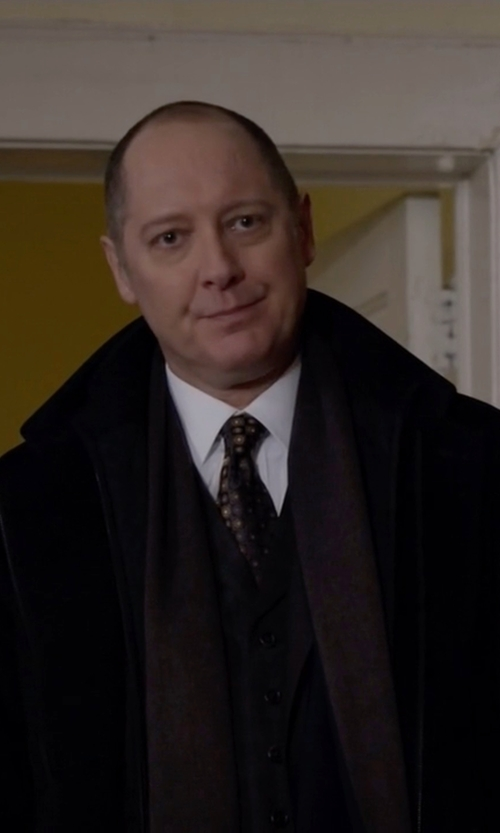 James Spader with Kenneth Cole New York Eliot Wool-Blend Over Coat in The Blacklist
