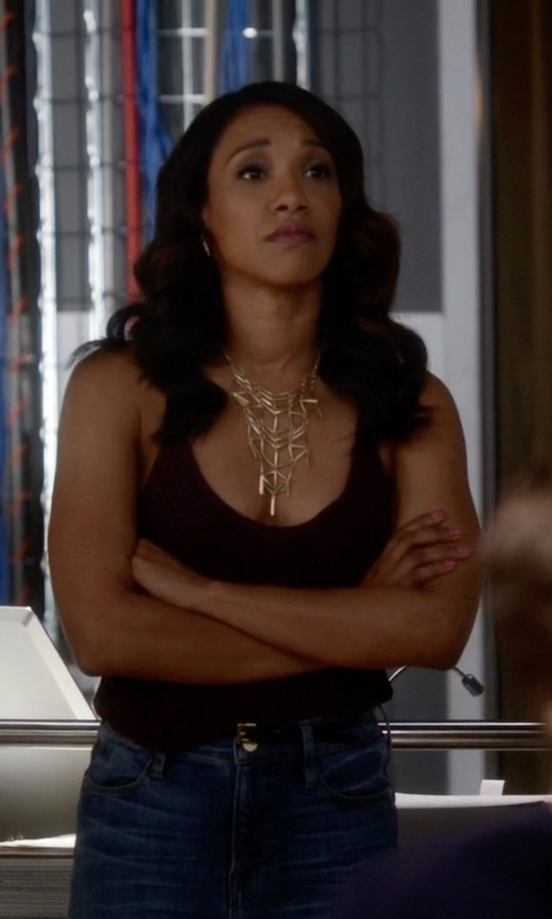 Candice Patton with Chico's Microfiber Contemporary Tank Top in The Flash