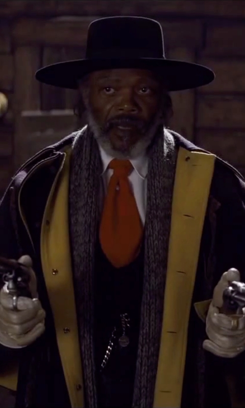 Samuel L. Jackson with Courtney Hoffman (Costume Designer) Custom Made 'Major Marquis Warren' Coat in The Hateful Eight