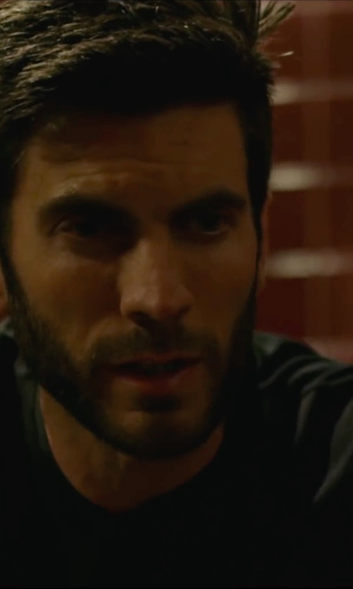 Wes Bentley with Versace Collection Medusa Logo Crew Neck T-Shirt in We Are Your Friends