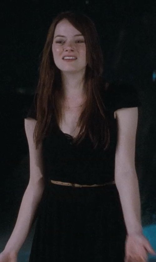 Emma Stone with Labour Of Love Tan Leather Skinny Belt in Crazy, Stupid, Love.
