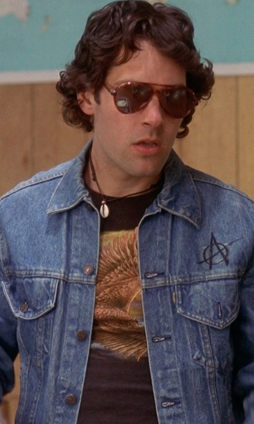 Paul Rudd with Robert Graham Men's Skull Printed T-Shirt in Wet Hot American Summer