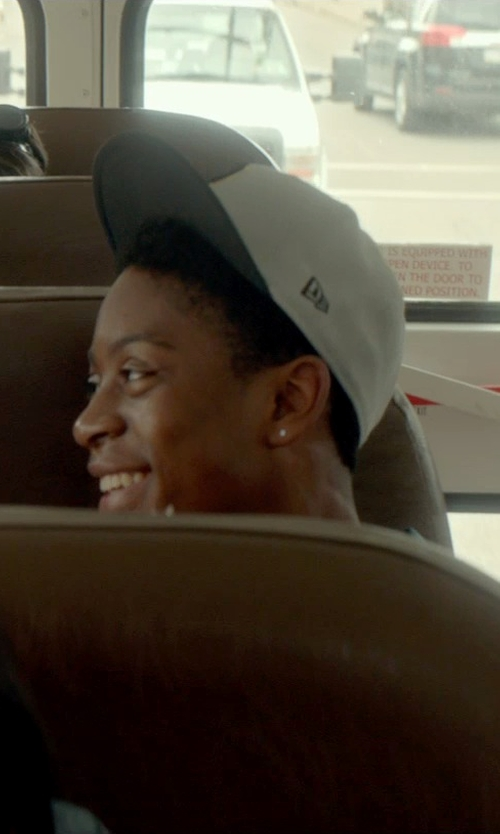 RJ Cyler with Crooks & Castles Men's Woven Snapback Cap in Me and Earl and the Dying Girl