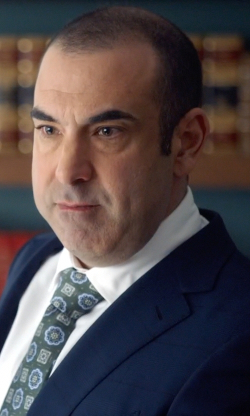 Rick Hoffman with AlaraShirt Modern Vine Medallion Silk Tie in Suits