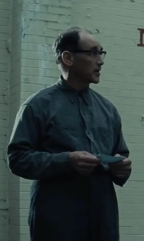 Mark Rylance with Dickies Men's Deluxe Cotton Coverall in Bridge of Spies