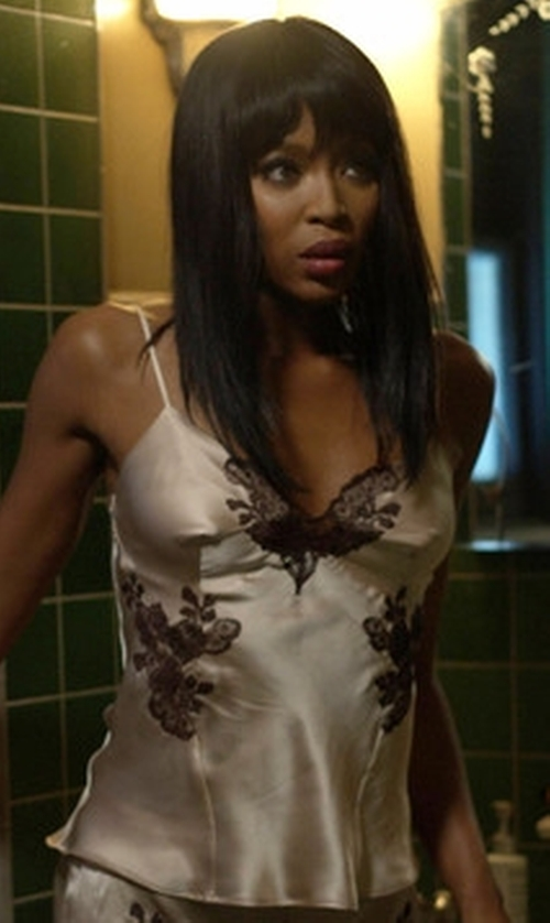 Naomi Campbell with Josie Natori Lillian Silk Cami in American Horror Story