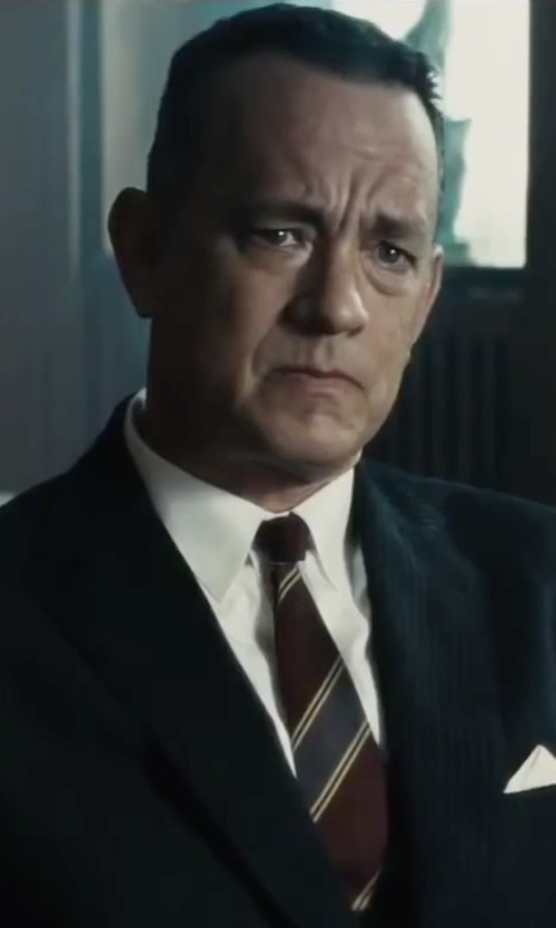 Tom Hanks with Moschino Striped Tie in Bridge of Spies