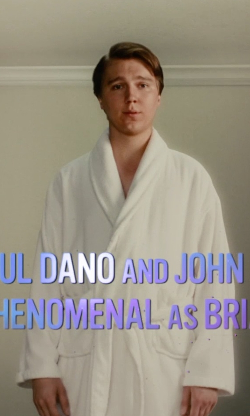 Paul Dano with Brooks Brothers Cotton-Terry Bathrobe in Love & Mercy
