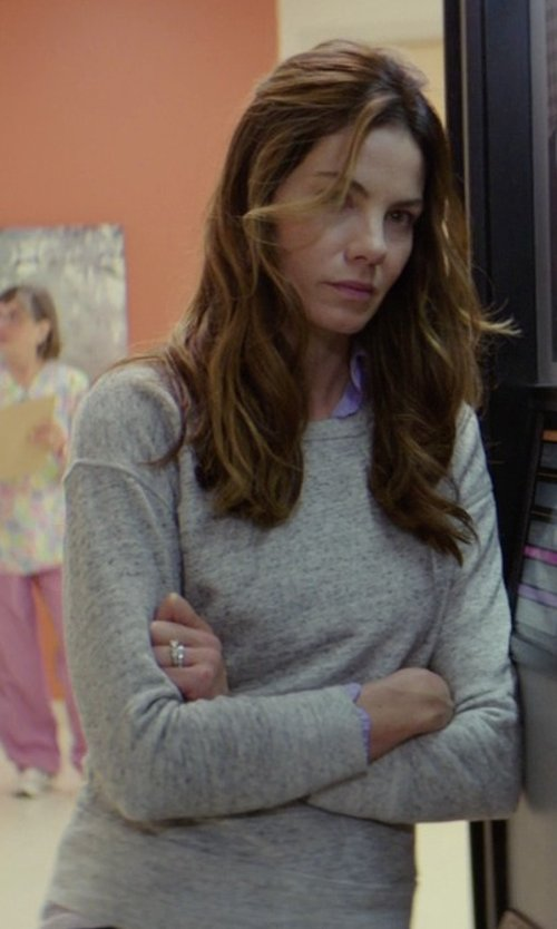 Michelle Monaghan with James Perse Vintage Pullover Sweater in The Best of Me