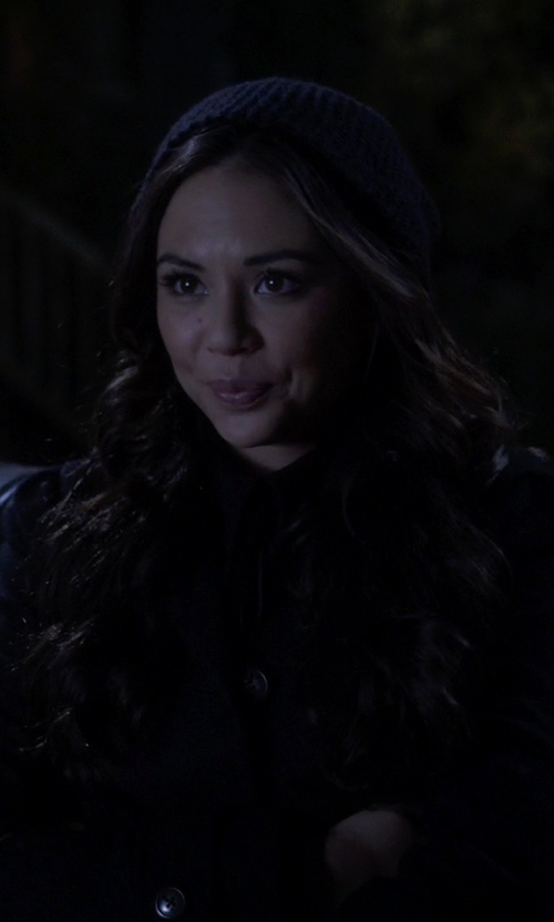 Janel Parrish with P.A.R.O.S.H. Ribbed Knit Beanie Hat in Pretty Little Liars