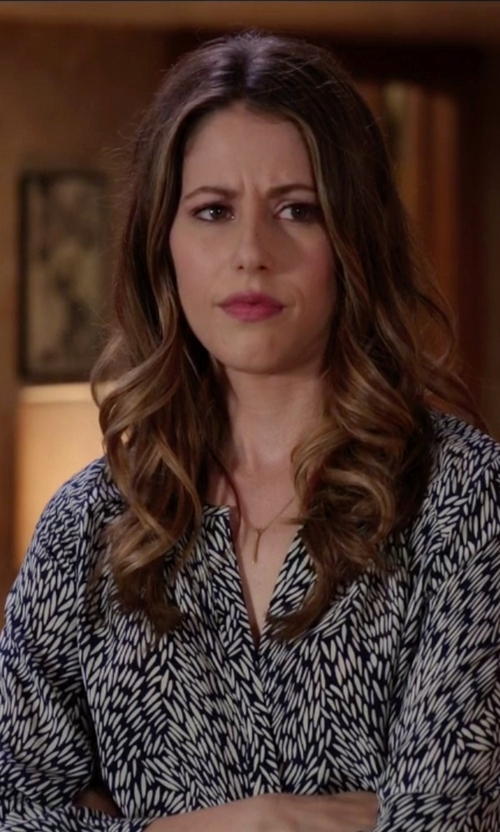Amanda Crew with Diane von Furstenberg Esti Silk Blend Blouse in Silicon Valley