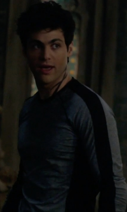 Matthew Daddario with Alternative University Vintage French Terry Pullover Sweatshirt in Shadowhunters