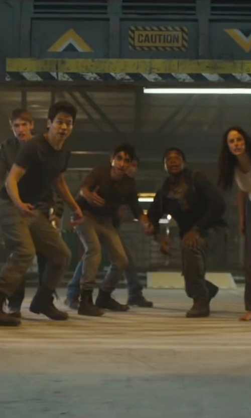 Alexander Flores with Wolverine Burke Long Sleeve Henley Shirt in Maze Runner: The Scorch Trials