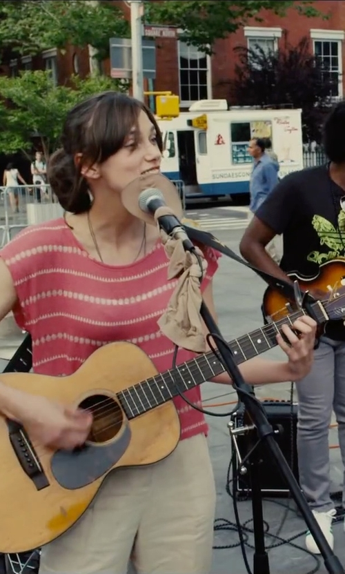 Keira Knightley with Gibson Acoustic J-15 Guitar in Begin Again