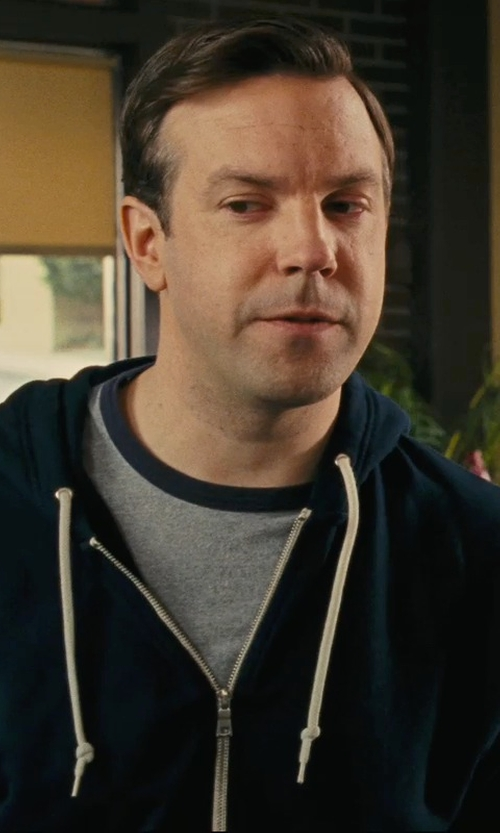 Jason Sudeikis with John Varvatos Men's Peace Graphic Ringer T-Shirt in Hall Pass