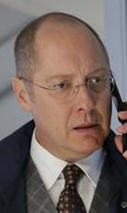 James Spader with Tom Ford Shiny Metal Wood Effect Eyeglasses in The Blacklist