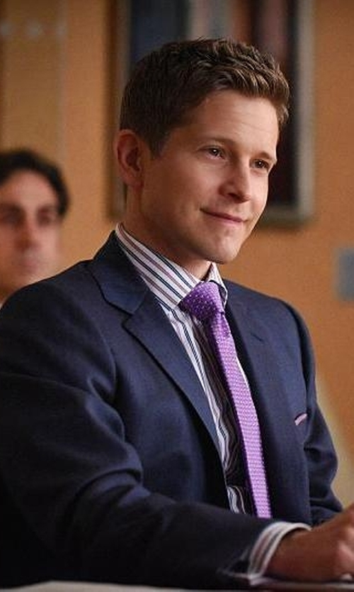 Matt Czuchry with Mauro Grifoni Virgin Fleece Wool Suit in The Good Wife