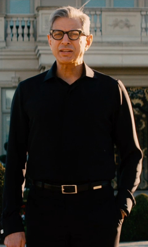 Jeff Goldblum with Givenchy Stars Belt in Mortdecai