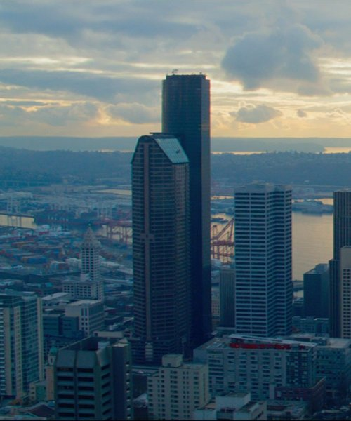 Unknown Actor with Columbia Center Seattle, WA in Fifty Shades of Grey