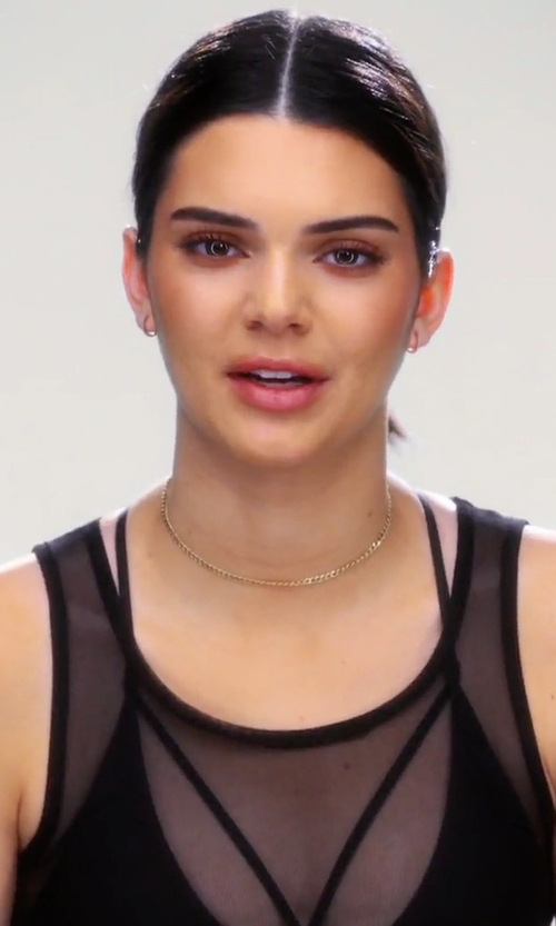 Kendall Jenner with Are You Am I Nyx Double Strap Satin Bra in Keeping Up With The Kardashians