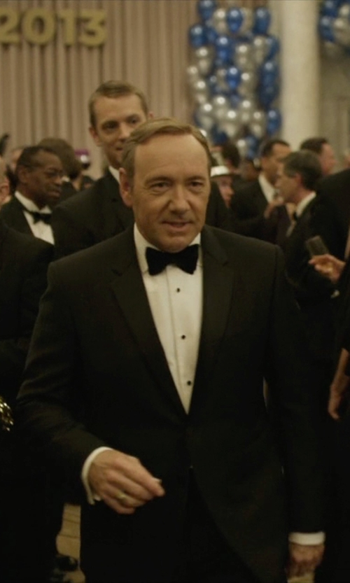 Kevin Spacey with Hugo Boss Custom Made Tuxedo Suit in House of Cards