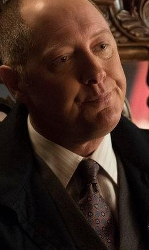 James Spader with John Varvatos USA Medallion Print Silk Tie in The Blacklist