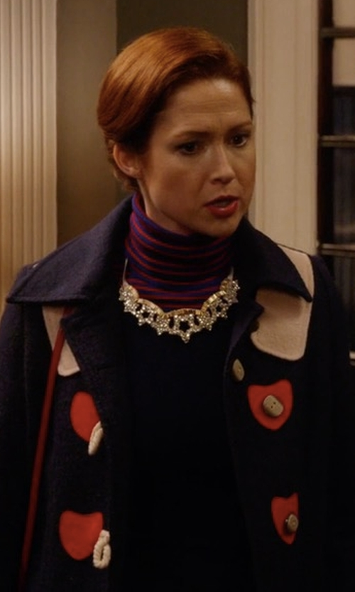 Ellie Kemper with Modcloth Sweet On You Coat in Unbreakable Kimmy Schmidt