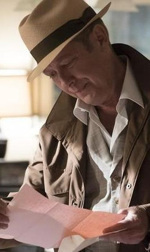 James Spader with Brixton Messer Wool Fedora Hat in The Blacklist