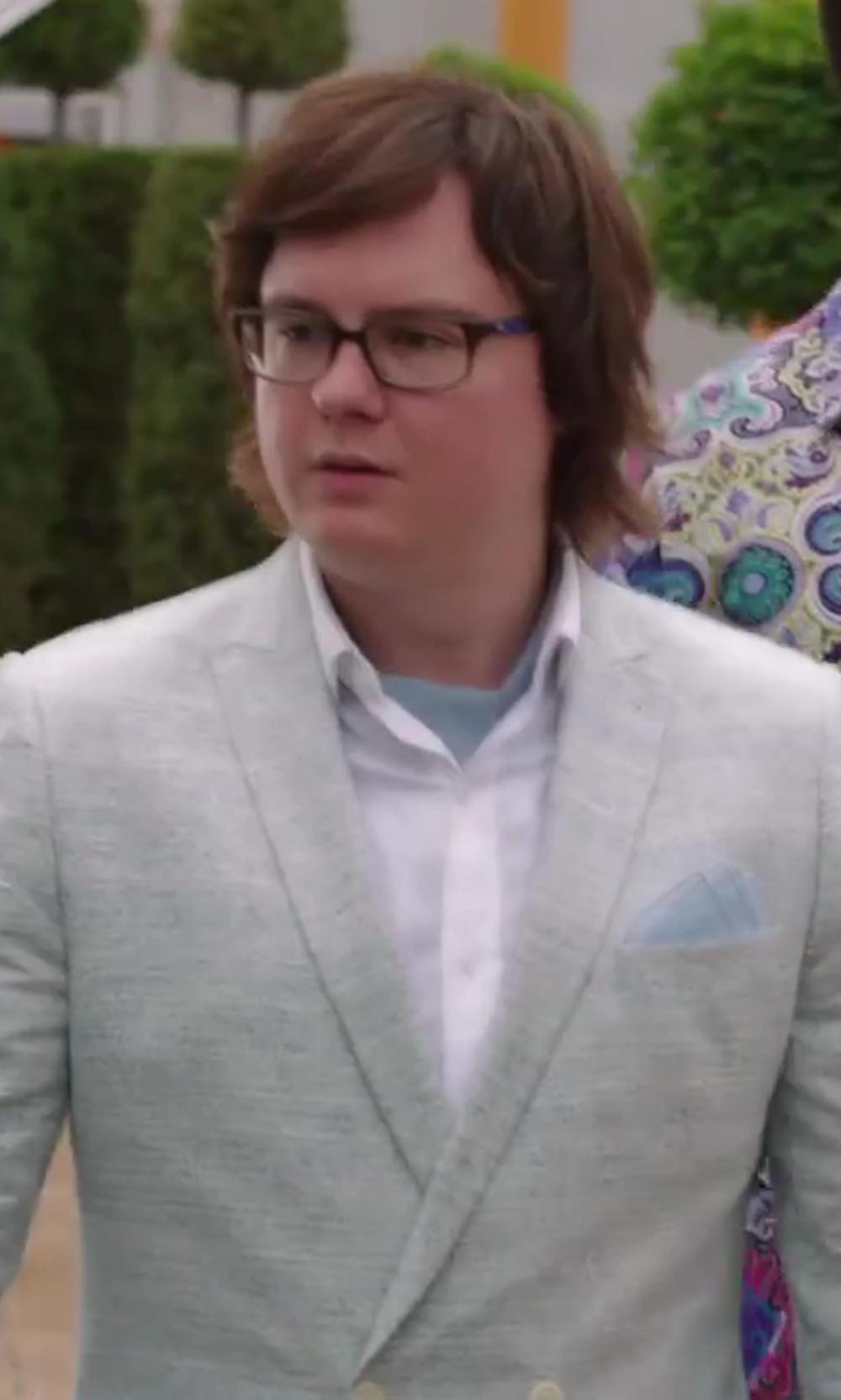 Clark Duke with Bedwin and the Heartbreakers Brian Oxford Shirt in Hot Tub Time Machine 2
