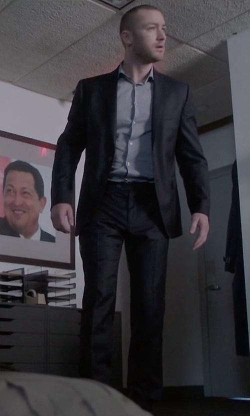 Jake McLaughlin with Boss Hugo Boss Huge Genius Slim-Fit Basic Suit in Quantico