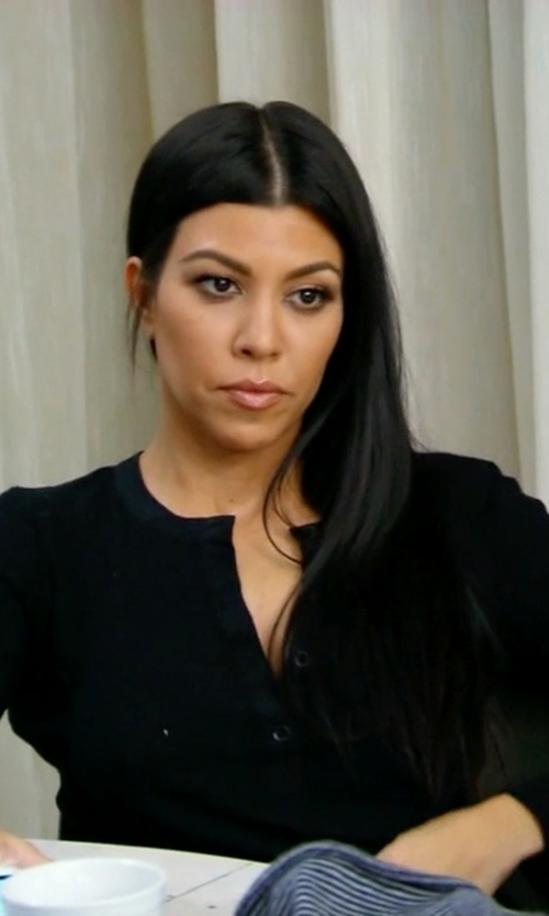 Kourtney Kardashian with Atm Anthony Thomas Melillo Rib Henley Tee in Keeping Up With The Kardashians