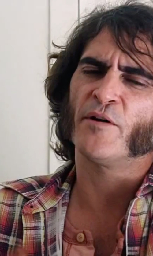 Joaquin Phoenix with Viyella Cotton No-Iron Sport Shirt in Inherent Vice
