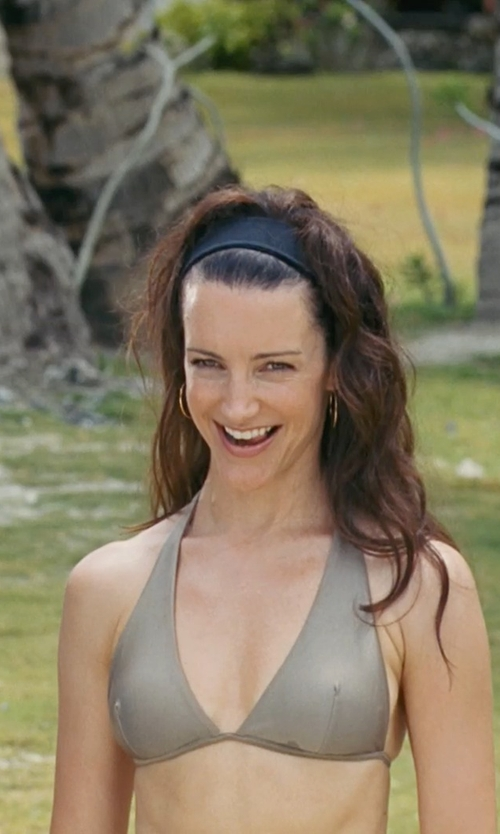 Kristin Davis with L. Erickson USA Velvet Scarf Headband in Couple's Retreat