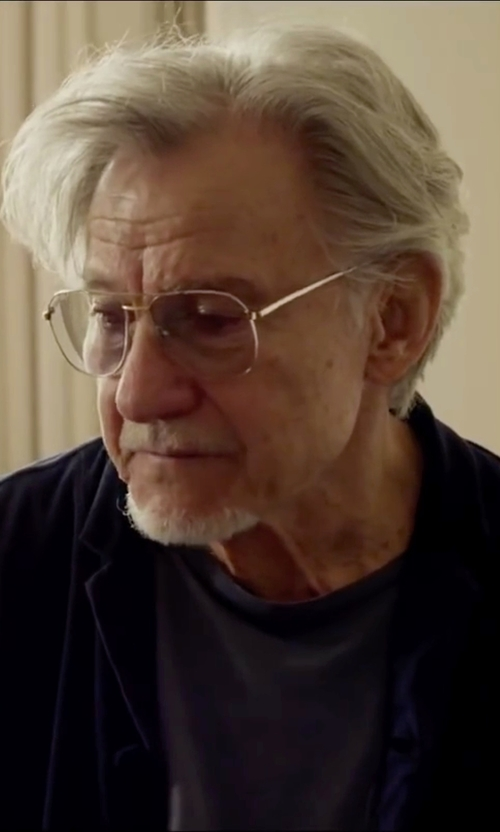 Harvey Keitel with Ray-Ban Aviator Eyeglasses in Youth