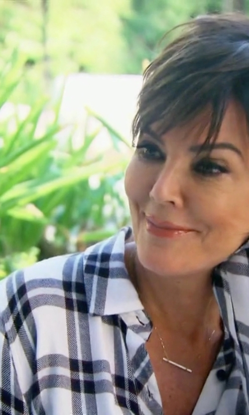 Kris Jenner with Rails Hunter Button Down Shirt in Keeping Up With The Kardashians