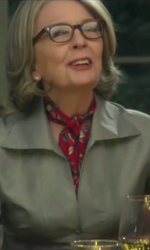 Diane Keaton with Anto Beverly Hills Custom Made Silver Button Down Blouse in Love the Coopers