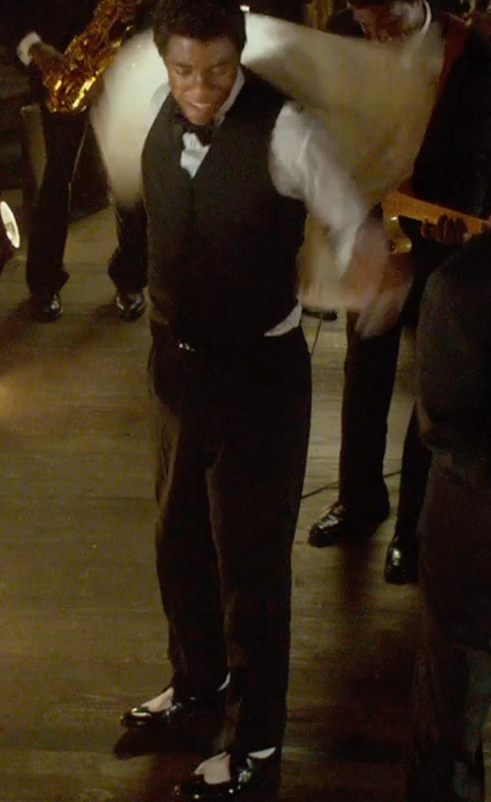 Chadwick Boseman with Florsheim Brookside Wing-Tip Oxfords in Get On Up