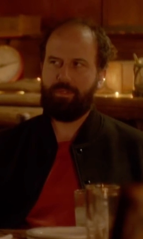 Brett Gelman with Hugo Boss Soule Varsity Bomber Jacket in Joshy