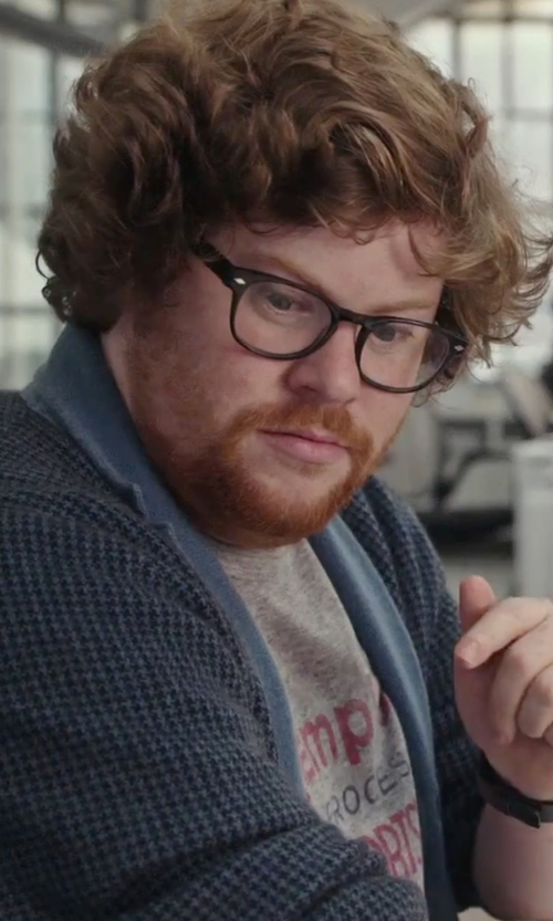 Zack Pearlman with Marc Jacobs Jersey Cardigan in The Intern