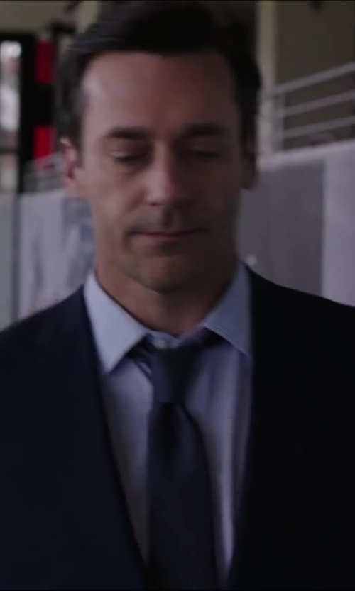Jon Hamm with BURBERRY LONDON BLUE WOOL AND MOHAIR-BLEND SUIT in Million Dollar Arm